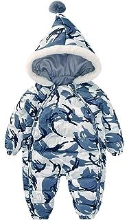Happy Cherry Doudoune Bleu Combinaison de Neige Bébé Garçon Fille Barboteuse  Body à Capuche Enfant Automne a68584e1be9