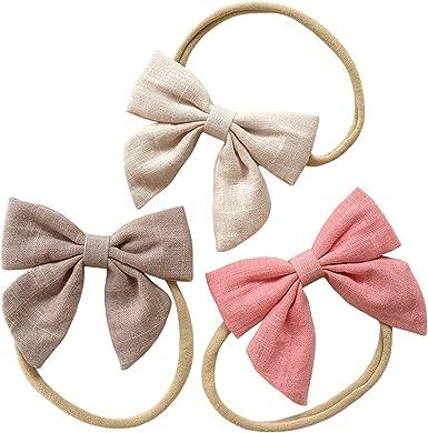 baby girl headbands baby headband Linen headbands set- newborn headbands infant headband headbands baby girl