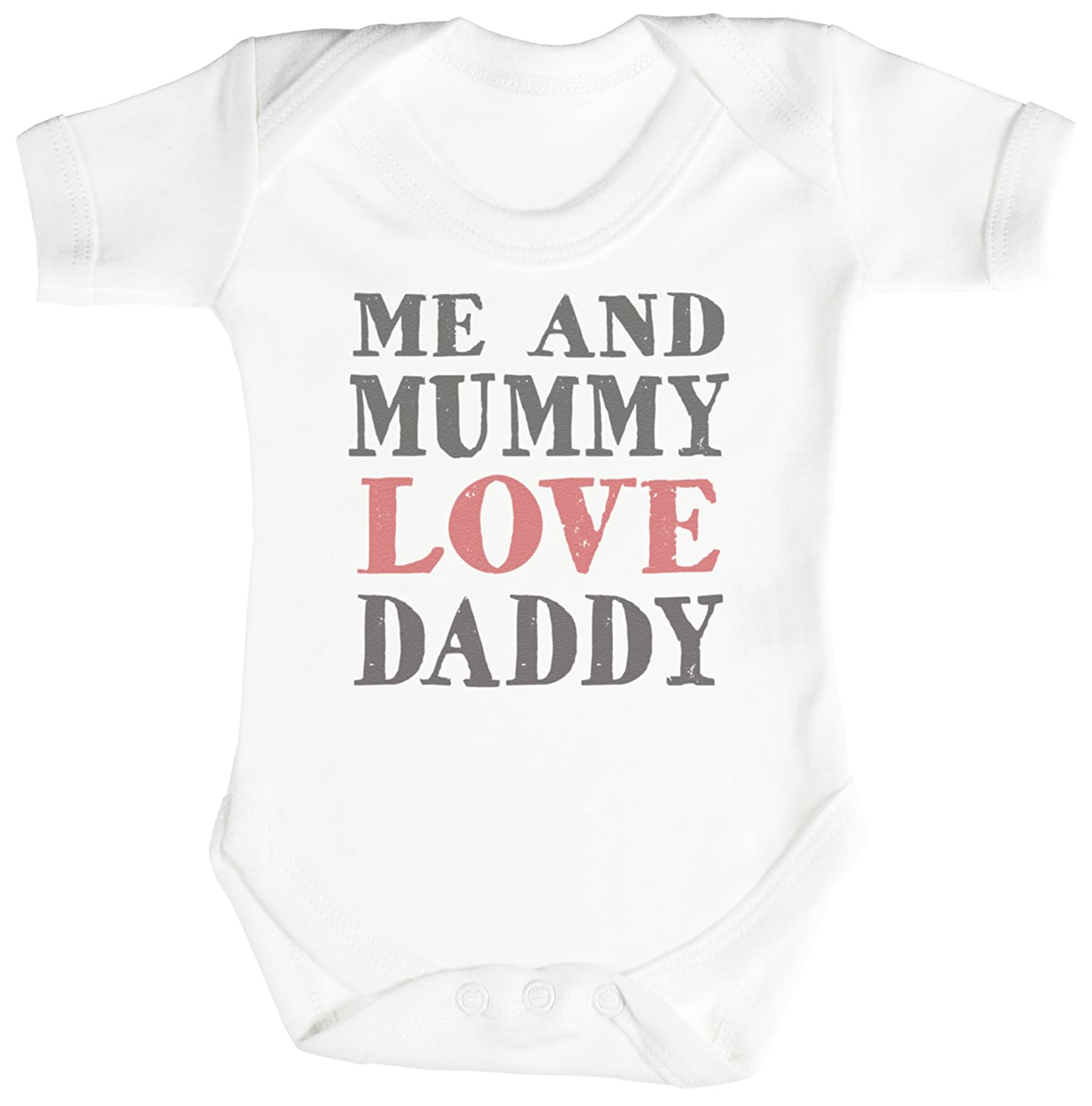 TRS Me And Mummy Love Daddy Baby Bodysuit Babygrow Cotton
