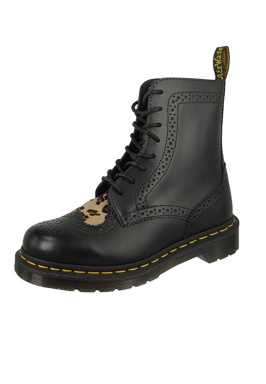 Dr. Martens Women's Bentley II HRT Brogue Boots B071GN7JX8 7 B(M) US|Black/Medium Leopard