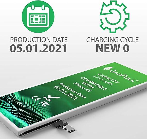GadFull Batería de reemplazo para iPhone 6S | 2021 Fecha de producción | Incluye Kit de Herramientas Profesional de reparación Manual | Funciona con ...