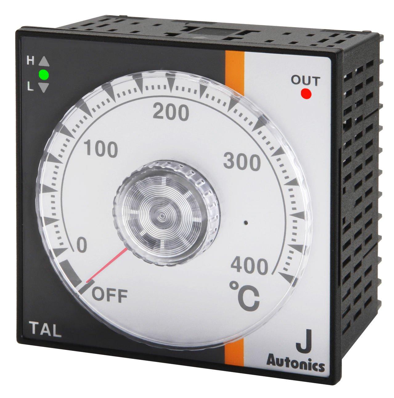 Autonics TAL-B4RJ2C Temp Control, 1/4 DIN, Analog, PID Control, Relay Output, J Thermocouple, 200 C, 100-240 VAC