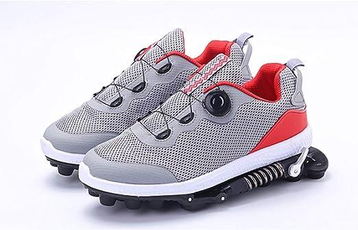 GYFY Zapatillas de Deporte funcionales para Hombres y Mujeres, Deportivas, Transpirables, Resistentes al Desgaste, amortiguadores de muelles, Zapatillas mecánicas para Correr,Red,41: Amazon.es: Hogar