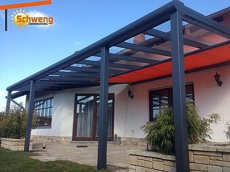 Dosel para terraza fabricado con placas de policarbonato de 16 mm, 6 x 3, 5 m (an. x pr.): Amazon.es: Jardín