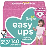 140 Count Pampers Easy Ups Pull On Disposable Potty Training Underwear Deals