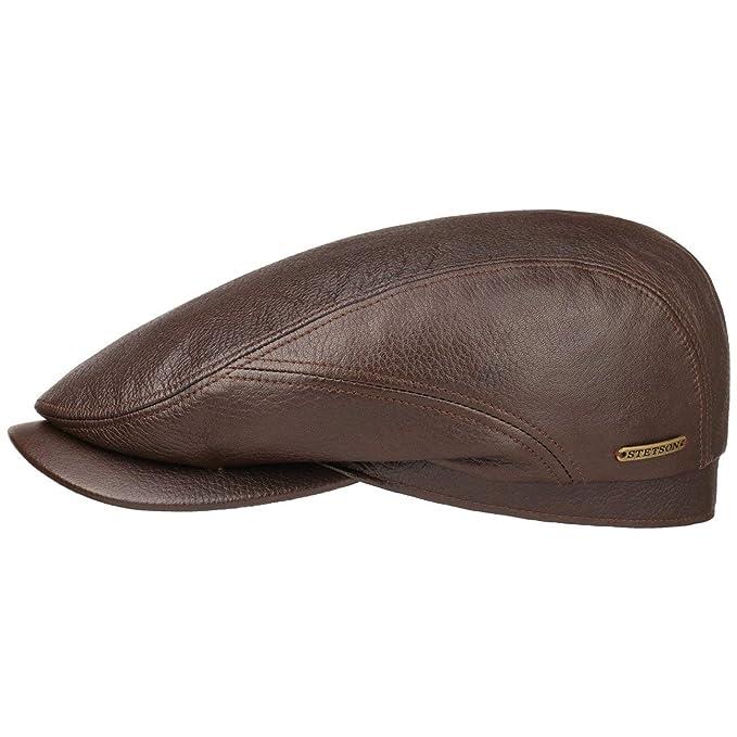 Stetson Gorra Ivy Soft Lambskin Hombre | Made in The EU con Visera, Forro otoño/Invierno | 59 cm marrón: Amazon.es: Ropa y accesorios