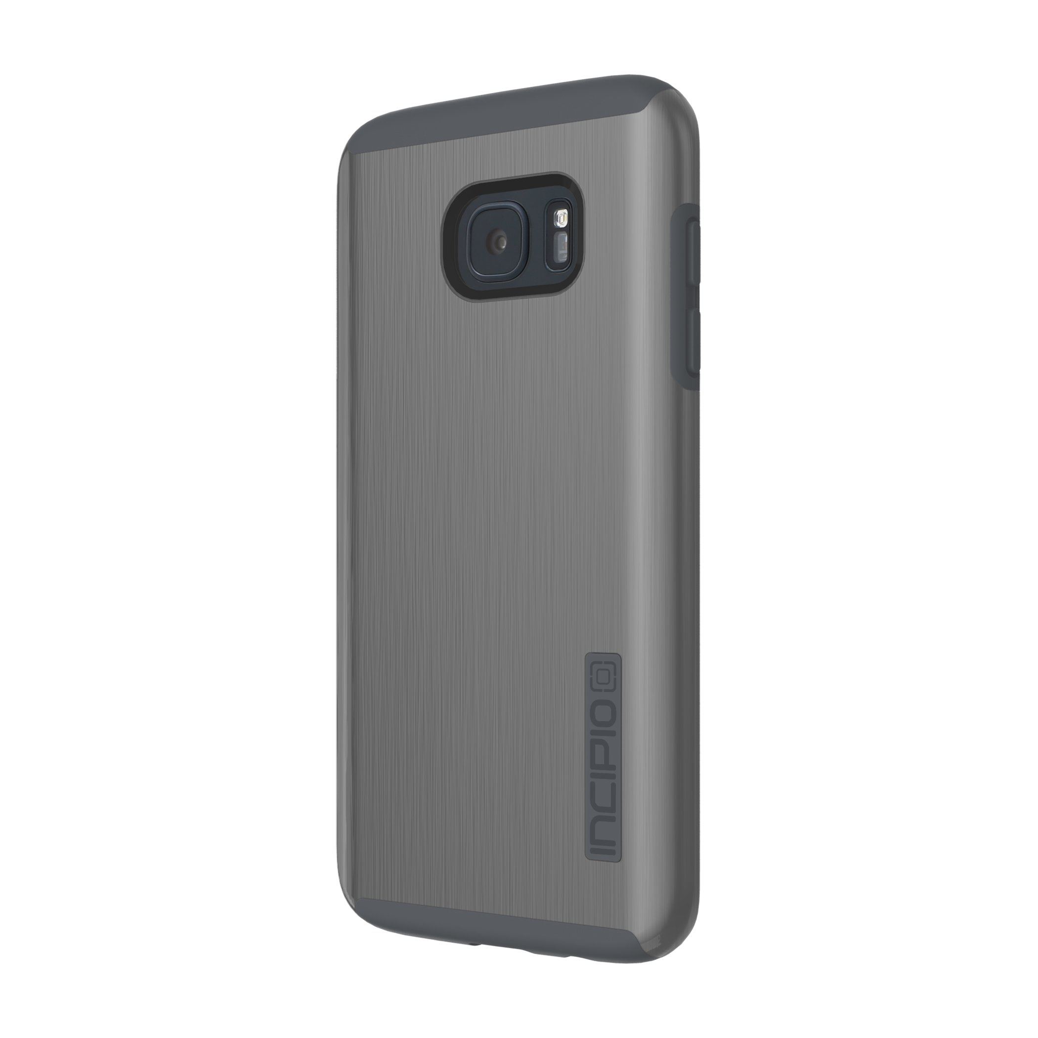 Samsung Galaxy S7 Edge case, Incipio DualPro Shine, Dual Layer Protection with Brushed Aluminum Finish Shock-Absorbing Impact-Resistant Dual-Layer Cover - Gunmetal/Gray