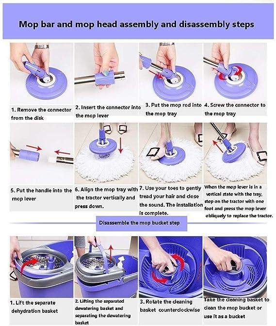 T-B Spinning Hogares Simplicidad Mop Floor Magic Spin Hogares ...