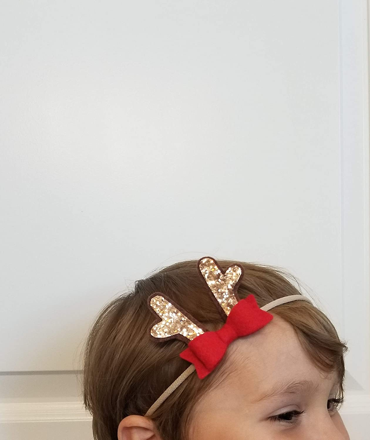 Christmas Headbands For Babies.Baby Christmas Headbands Mini Reindeer Antlers Red Bow