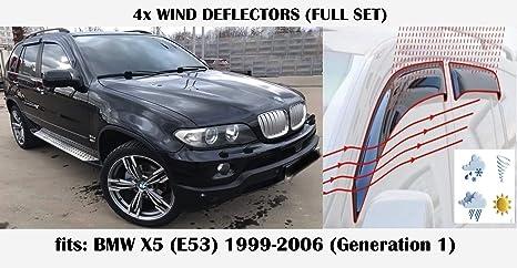 2009 2010 2011 2012 2013 2014 2015 Visi/ères lat/érales en Verre Acrylique PMMA E84 5 Portes SUV Mrp Lot de 4 d/éflecteurs dair compatibles avec BMW X1 s/érie E84