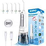 Renpho - Irrigador oral inalámbrico portátil ultra oral para dientes, modo hazlo tú mismo, limpiador dental eléctrico para ap