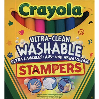 Crayola 8-Ultra Clean Marker Stampers: Toys & Games