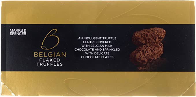 Marks Spencer Ms Belgian Flaked Truffles An Indulgent