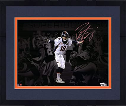 Framed Peyton Manning Denver Broncos Autographed 11 quot  x 14 quot  Super  Bowl 50 Spotlight at 3a5262848