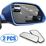 Blind Spot Mirrors, 360 Degree Rotate Adjustable Square Blind Spot Mirror, Waterproof Glass Car Blind wide Mirror for traffic safety (Pack of 2)