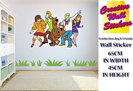 Scooby Doo Wall Stickers Scooby Doo U0026 Friends Childrens Bedroom Wall Decal  ...