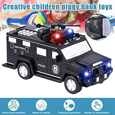 Kids Money Bank, Electronic Piggy Bank Black Code Armored Car Password Piggy Banks, Mini ATM Cash Coin Bank with Lights and Music Money Safe Coin Box for Children Fun Gifts Toy (Gold): Kitchen & Dining [5Bkhe1006510]