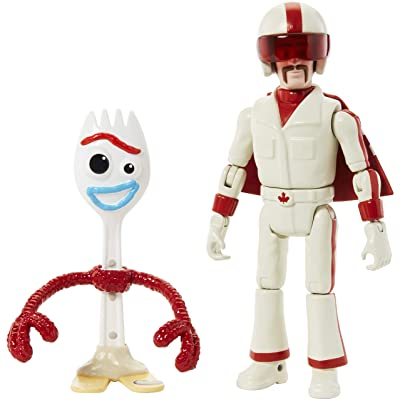 "Disney Pixar Toy Story Forky & Duke Caboom Figures, 4.3"" & 5.9\"": Toys & Games [5Bkhe1106289]"