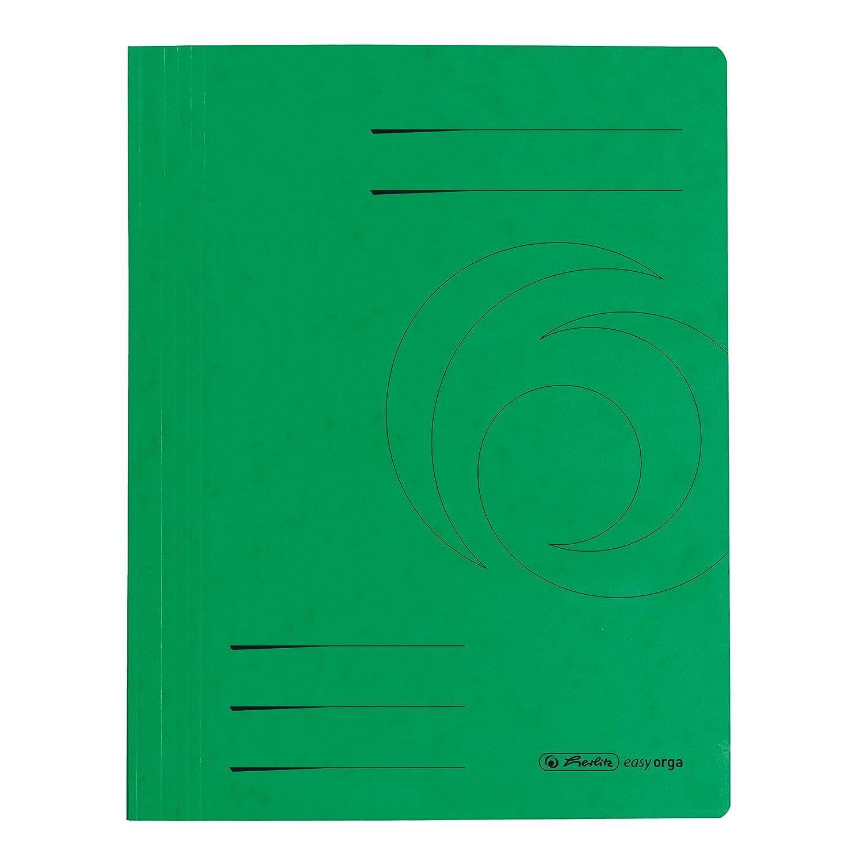 10x Schnellhefter A4 355g Colorspan Karton grün Mappe Hefter Schulhefter