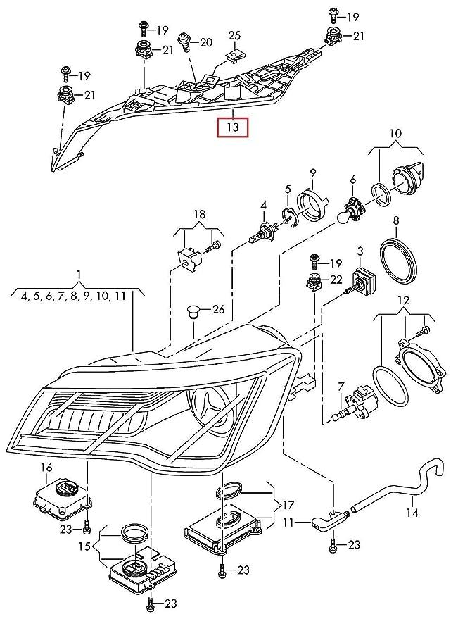 Amazon Com Genuine Audi A7 S7 Rs7 2010 2014 Headlight Upper Bracket