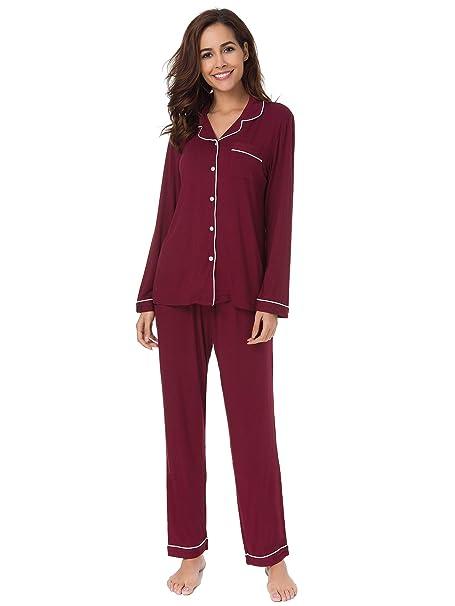 63d970ccc277 SIORO Summer Pajama Sets for Women Cotton Sleepwear Set 2 Piece Baggy Style  Sleep Set Ladies