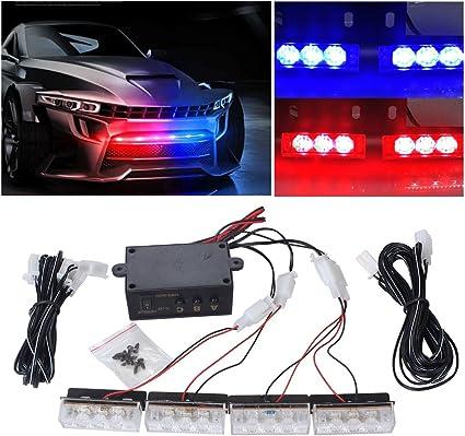 EFORCAR 1pcs 12 LED flash estroboscópico emergencia Light12V coche ...