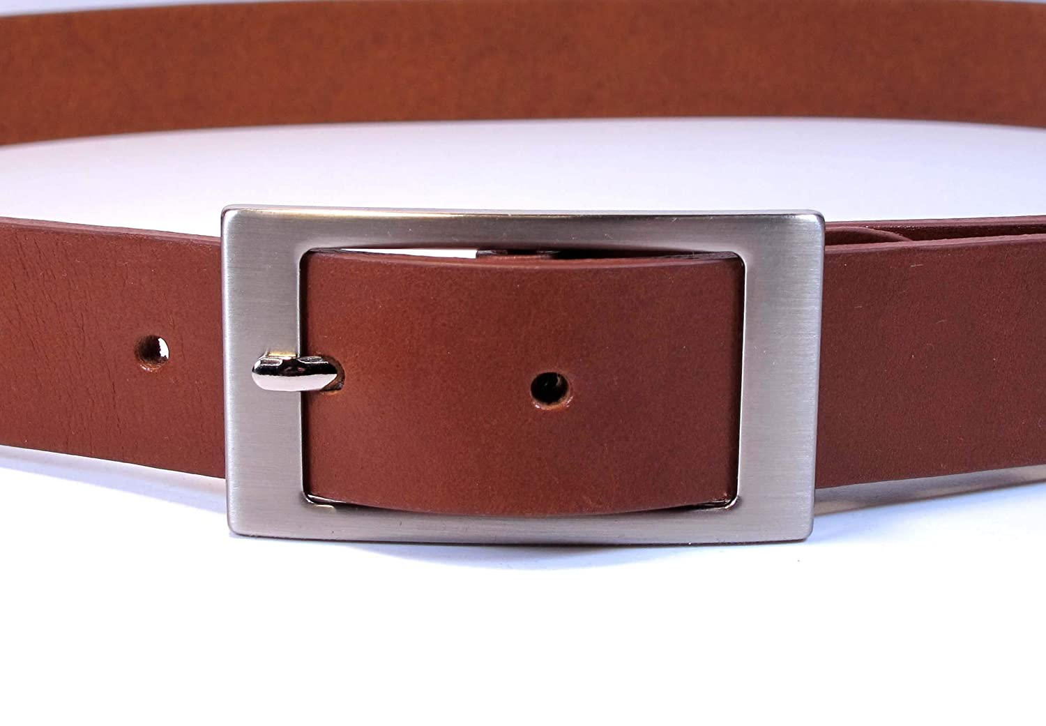 CF2 Womens Real Genuine Leather Belt Black Brown White 1.1 Wide S-L Casual Jeans