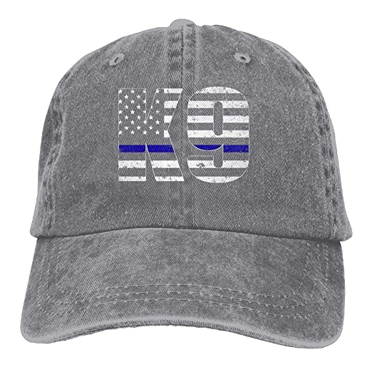 Amazon.com  Police K9 Thin Blue Line Snapback Cotton Hat Ash  Clothing 3c90ae10bb3