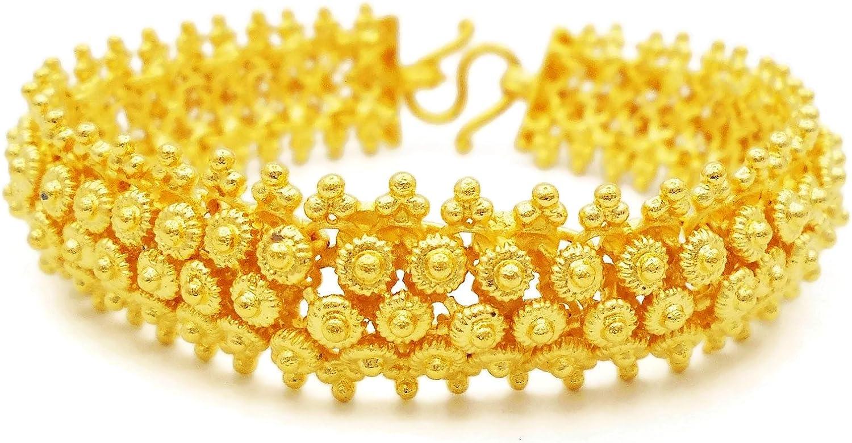 22k Collar Chapado en Oro Indio largo 30 en Cadena Collar Designer Jewelry
