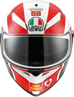 AGV 0101-7517 K-3 SV Motorcycle Helmet (Simoncelli, Medium)