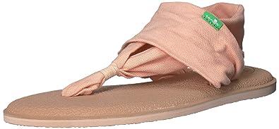 Sanuk Womens Yoga Sling 2 Solid Vintage Flip-Flop