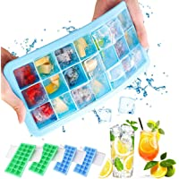 Ice Cube Tray with Lid 4 Pack, Easy Release ice Cube Trays Silicone, Make 24 ice Cubes Each, for Chilling Bourbon…