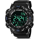 Aposon Mens Watch Smart Sport Wristwatch Bluetooth Watch Pedometer Calories LED Digital Watch Fitness Running Bracelet Chronograph Alarm Wristwatches Military Army Watch On Sale 50M Waterproof