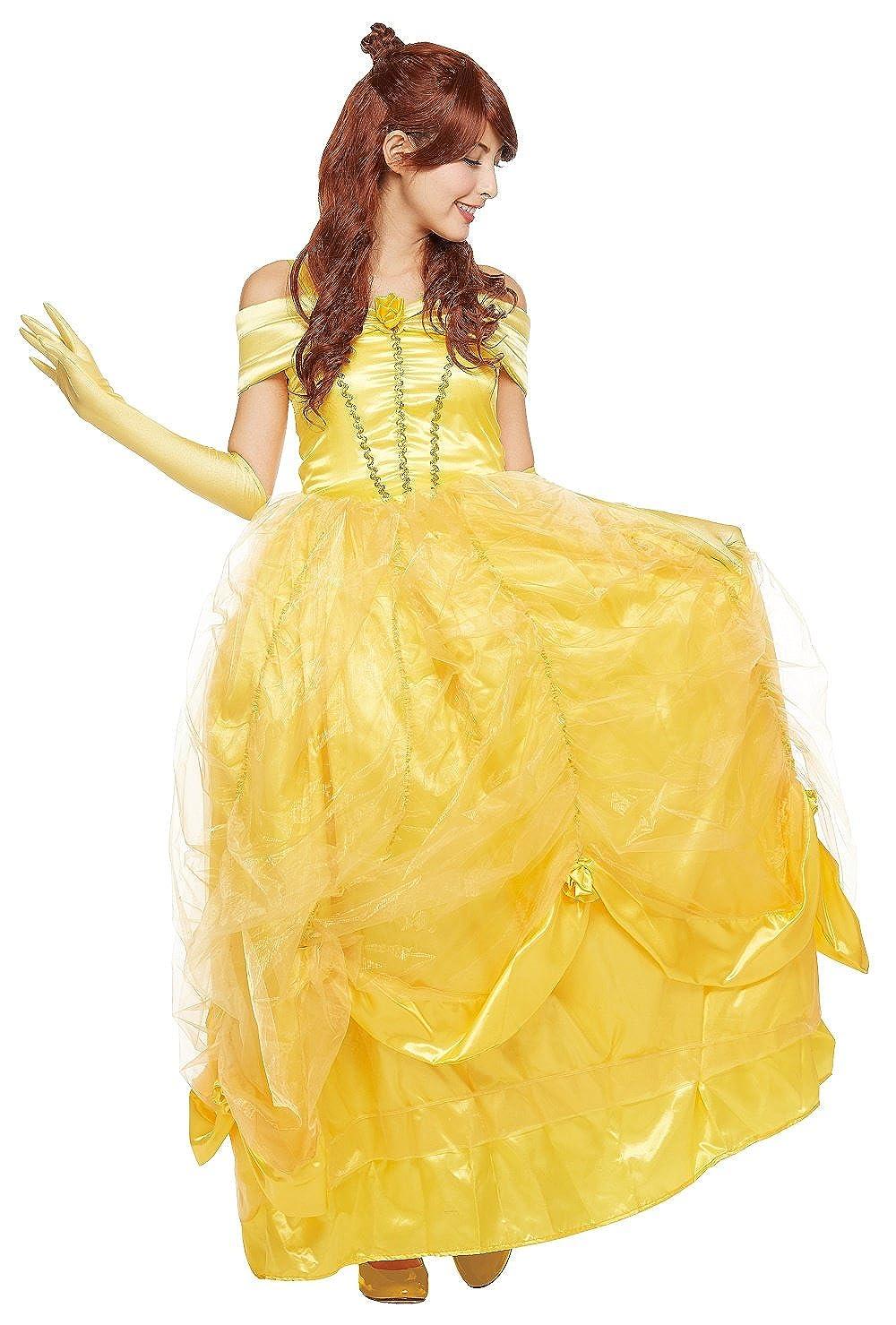0a67ca38871 Amazon.com  Disney s Beauty   The Beast Costume - Belle Costume -  Teen Women s STD Size  Clothing