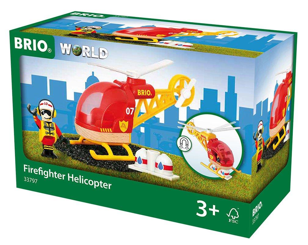 BRIO Bahn Großes Feuerwehr Deluxe - BRIO Feuerwehr Hubschrauber - Brio Holzeisenbahn