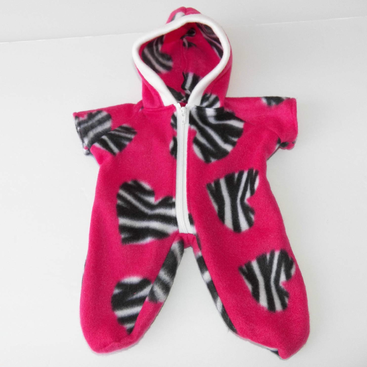 Cabbage Patch Doll Clothes 14 Inch Girl or Preemie Size Pink Zebra Snowsuit Clothes Only