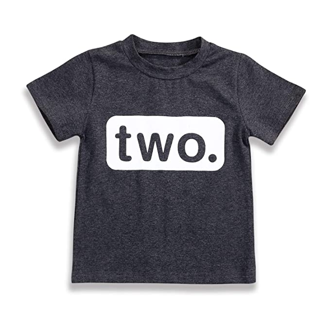 2nd Birthday T Shirt Toddler Kids Boy Outfits Two Year Old Top Clothes 2