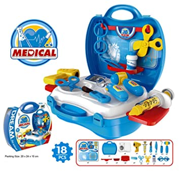 Zenith Toys Medical Suitcase Set Toys for Girls and Boys, Multicolor