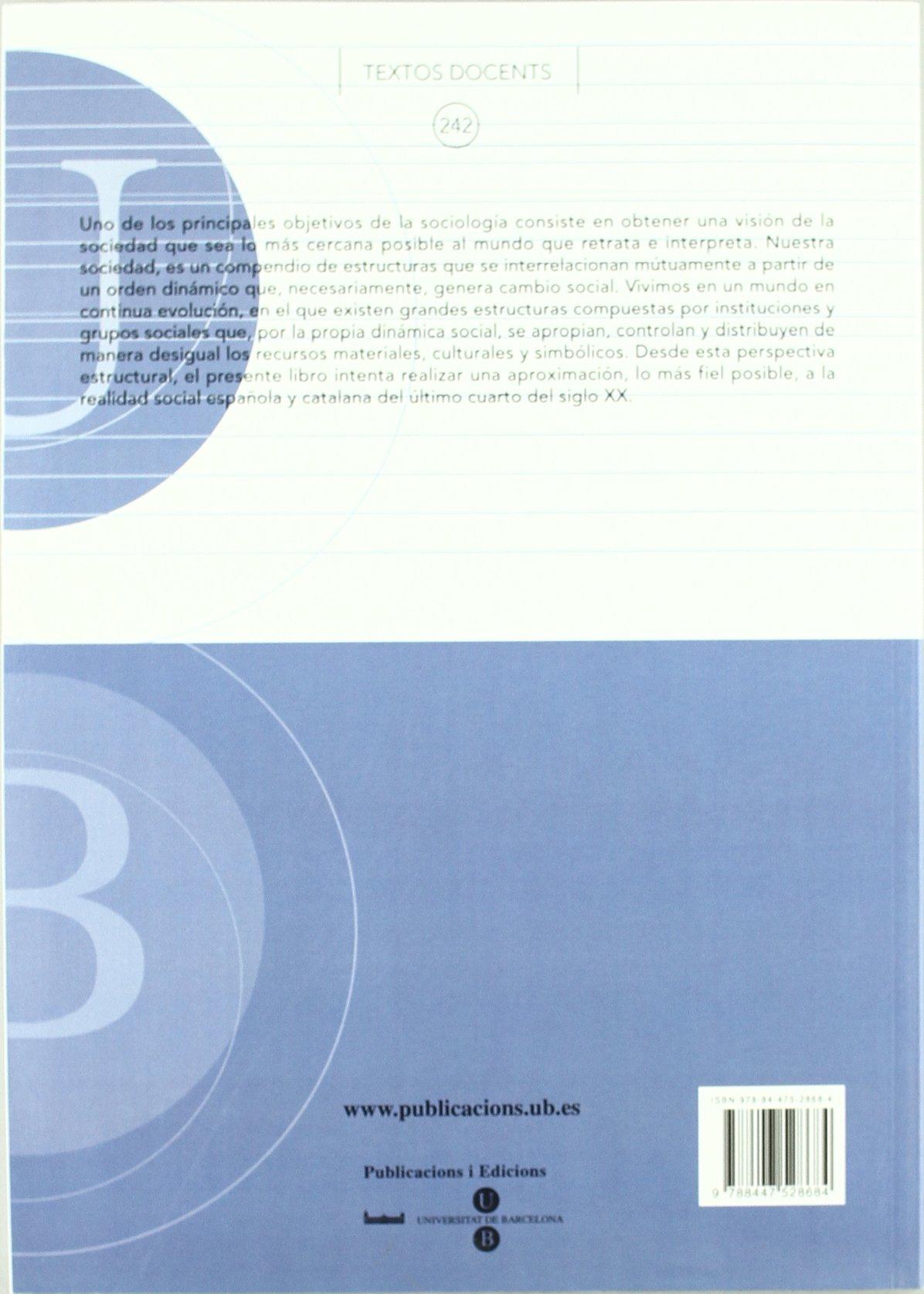 Estructura social de España y Cataluña TEXTOS DOCENTS: Amazon.es: Climent Sanjuan, Víctor: Libros
