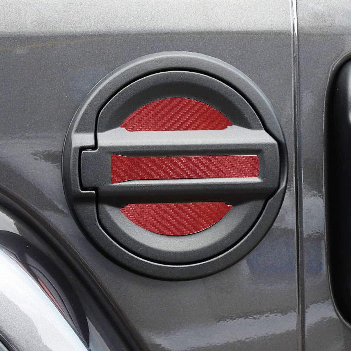 Rosso MLING Auto Tappi Serbatoio Carburante Decorativa Adesivi Striscia Compatibile per Wrangler JL 2018 2019