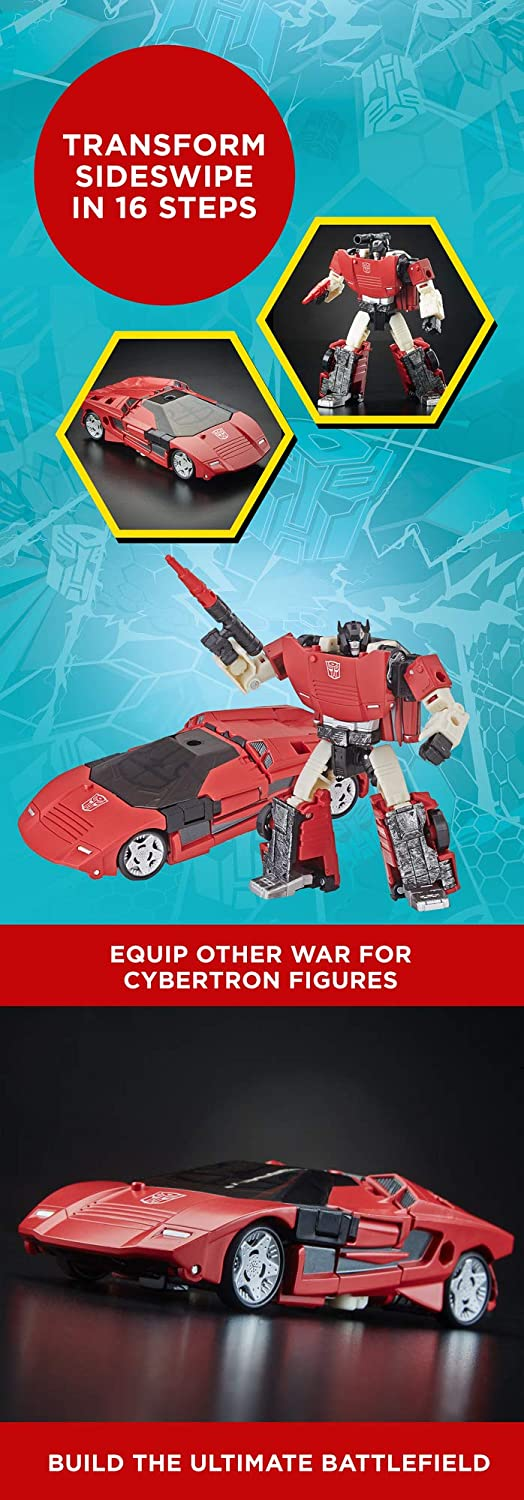 Siege Deluxe Class Wfc-S10 SIDESWIPE Action Figure Hasbro E3530 Transformers Generations War for Cybertron