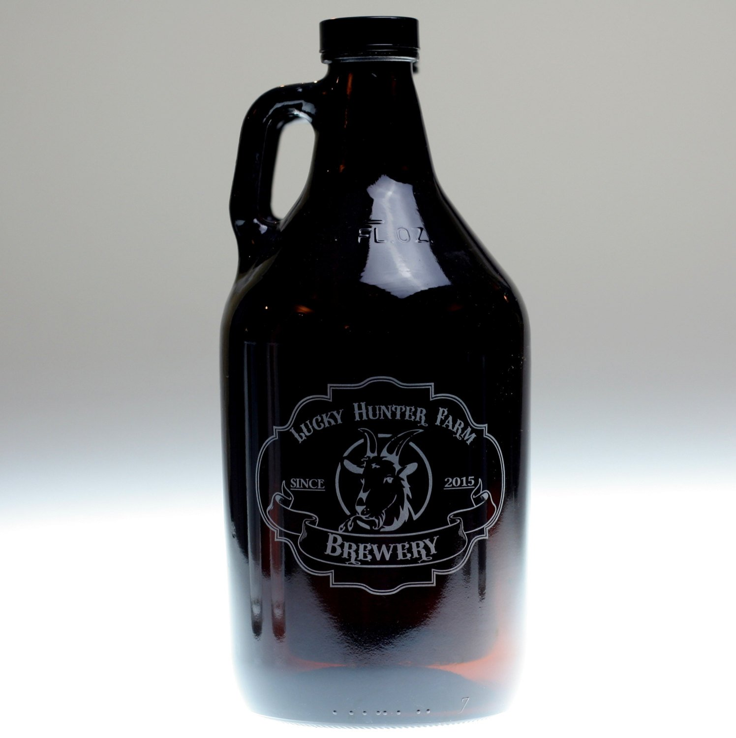 Personalized Engraved Beer Growler with Whimsical Animal as Focus