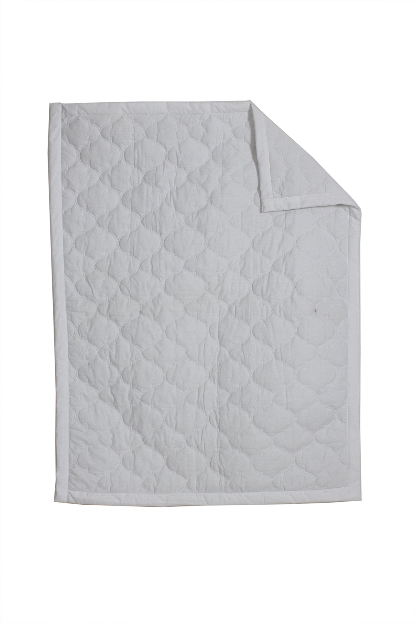 Bacati Mix and Match Crib/Toddler Quilt, White
