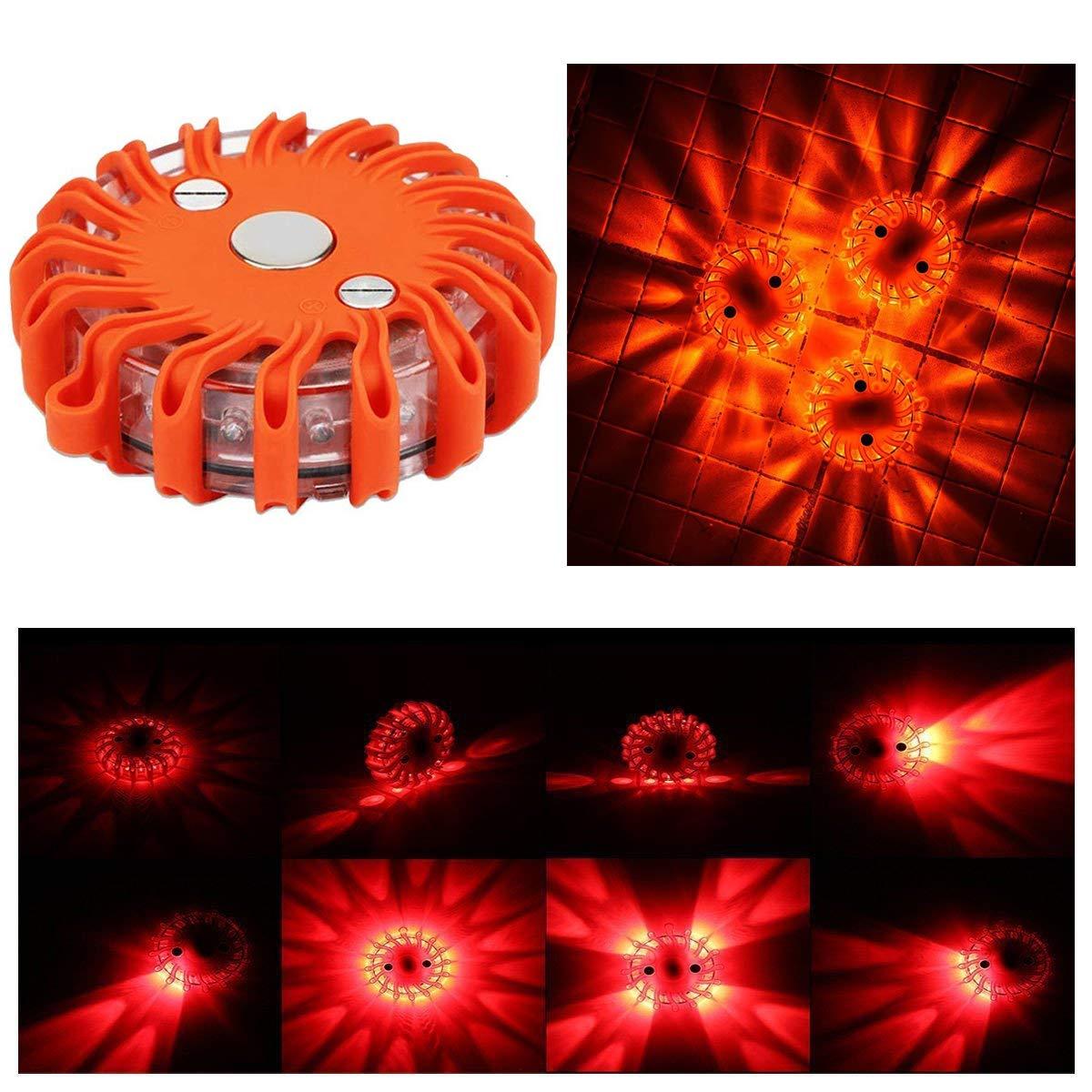 ProPlus 540322 LED Warnblitzer Warnleuchte Blitz Leuchte Rescue Flare ROT 16 LED