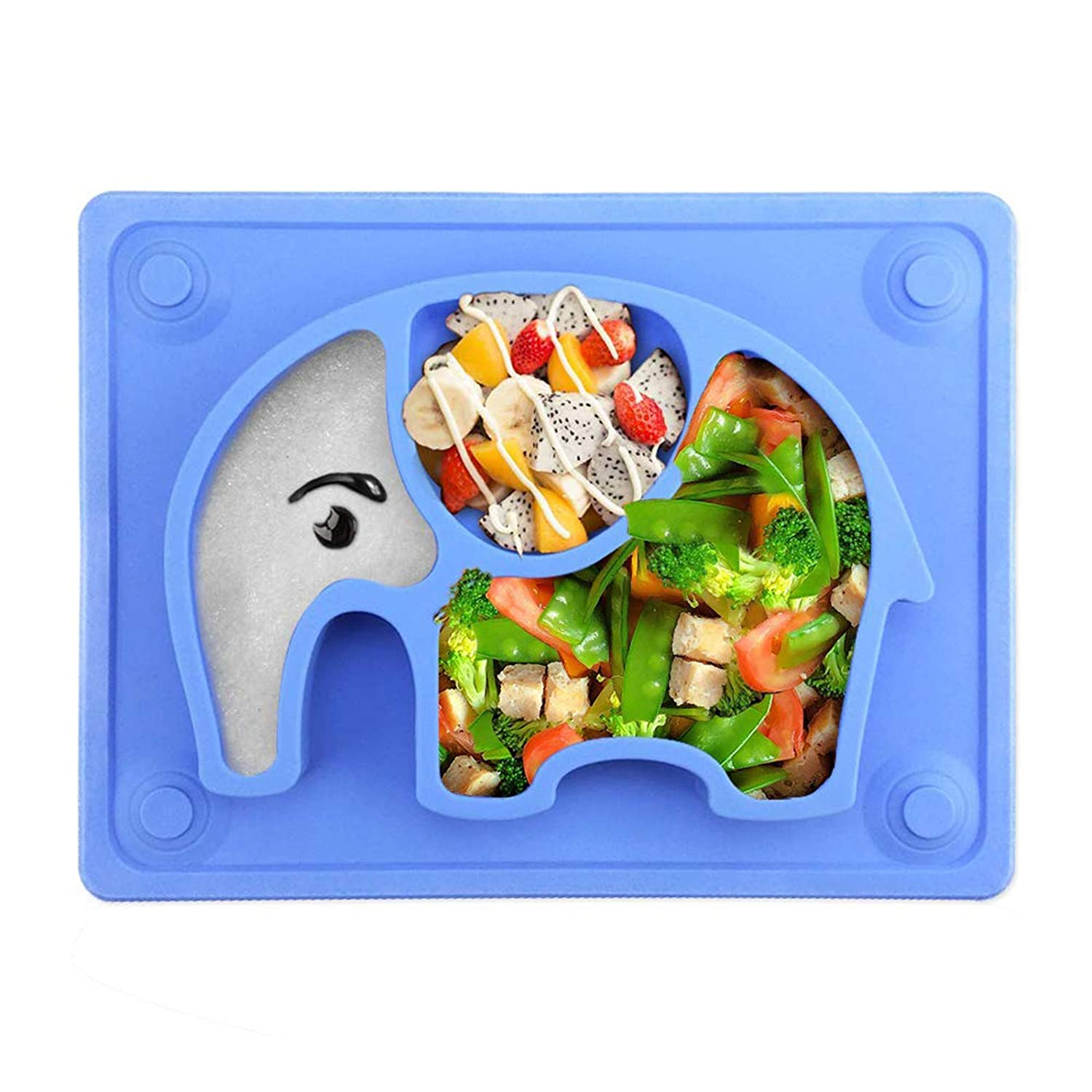 Non-Slip Feeding Plate for Toddlers Babies Kids with Cups Baby Suction Plates