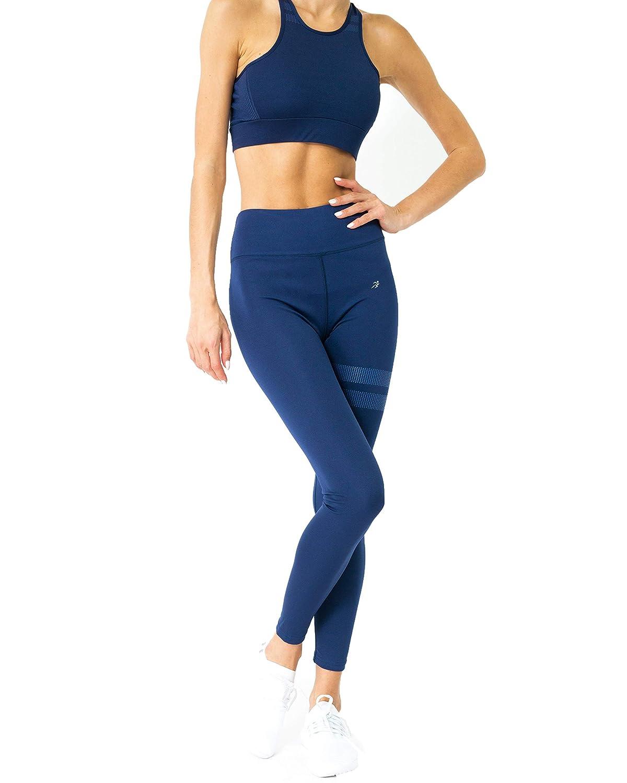 Savoy Active Ashton 2 Piece Workout Set for Women, High Waist Legging and Sports Bra Crop Top