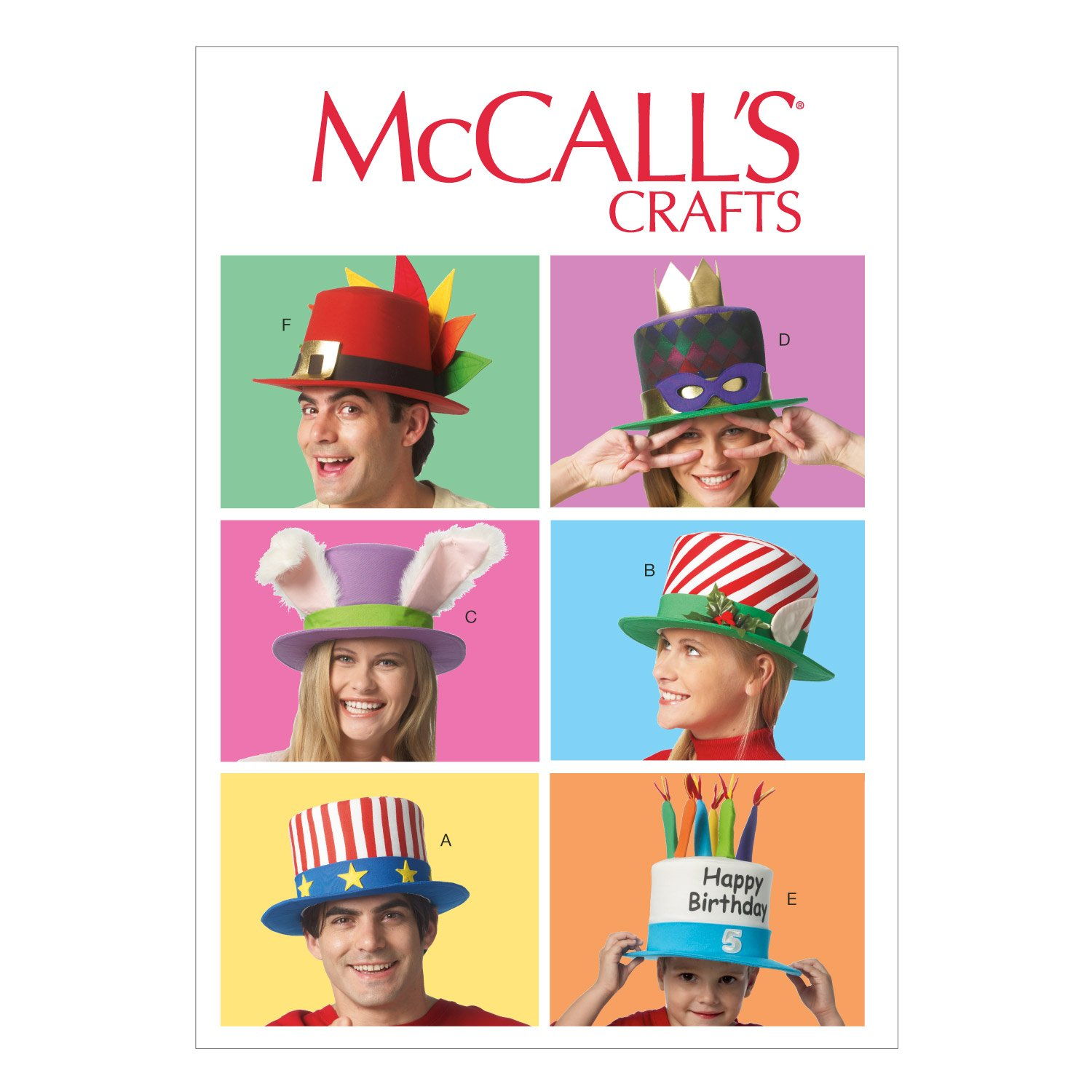 McCall Pattern Company M6858 Event Hats Sewing Template, All Sizes by McCall Pattern Company   B00G4SNUNG