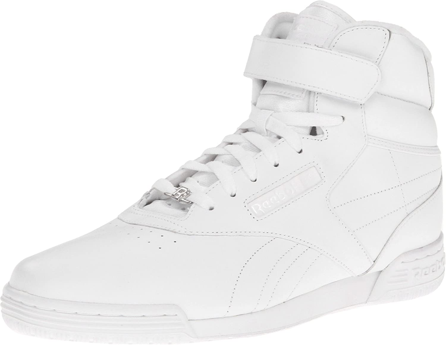 2d2d475e24be Reebok Exofit Hi White Mens Trainers Size 9.5 UK  Amazon.co.uk  Shoes   Bags