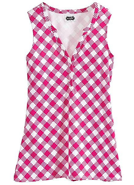 c79319f069 Mud Pie Piper Pink Gingham Tunic at Amazon Women's Clothing store: