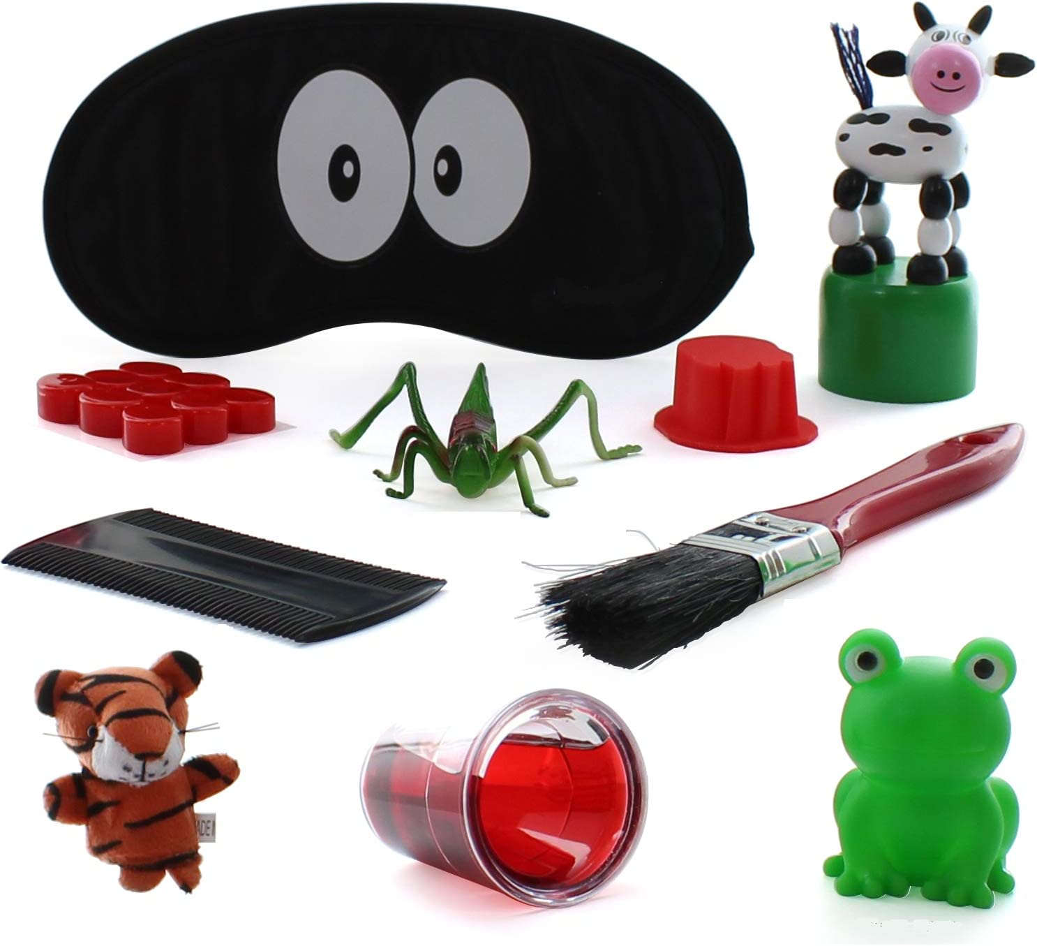 Passover Ten Plagues bag. 10 Plagues of Egypt kit for Seder Table fun & Decoration.